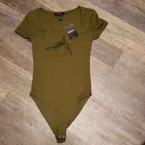 Army green bodysuit